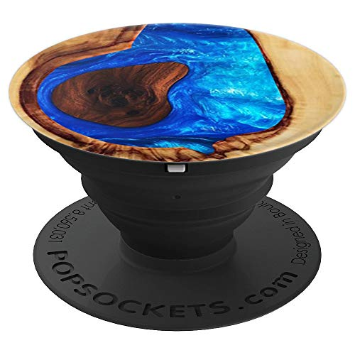 Resin Wood Pop Socket Epoxy - PopSockets Grip and Stand for Phones and Tablets