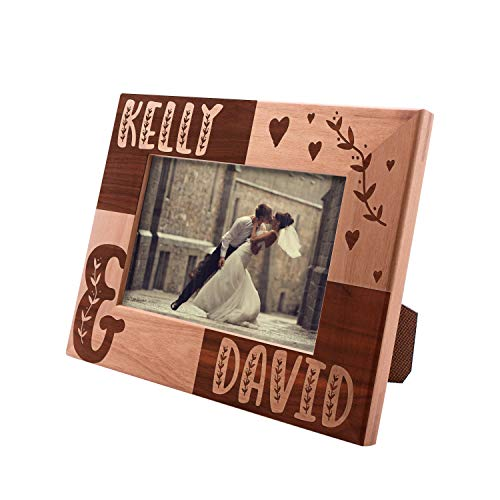 Personalized Picture Frames 4x6, 5x7, 8x10 - Couples Love Personalized Romantic,Wedding Photo Frame, Engagement, Valentine's Day, Wedding Gifts for The Couple (Best Romantic Couple Photos)