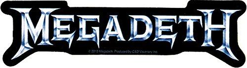 Megadeth Rock - Megadeth Rock Music Band Sticker - Silver Logo on Black