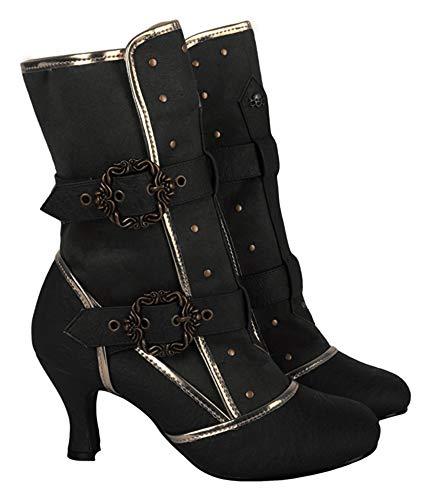 Marie Antoinette Cosplay Vintage Style Victorian Queen Joan of Arc Halloween Costume Boots 6 -