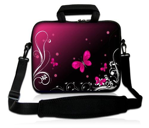 Pedea Design Schutzhülle Notebook Tasche 17,3 Zoll (43,9cm) mit Schultergurt butterfly