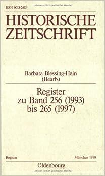 Book Register Zu Band 256 (1993) Bis 265 (1997)