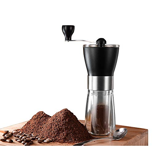 Why Should You Buy T-mark Manual Coffee Grinder, Hand Portable Bean Mill Stainless Steel Handle Adju...