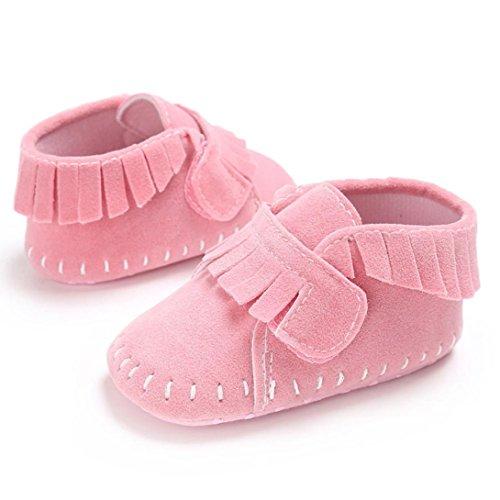 Hunpta Baby Schuh Jungen Mädchen neugeborene Krippe weiche alleinige Schuh Turnschuhe Rosa