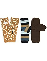 Bowbear Baby 3 Pair Wilderness Buddies Leg Warmers