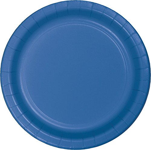 True Blue Plastic Plates - 6