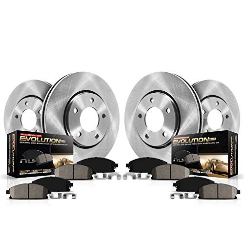Power Stop KOE5909 Autospeciality Replacement Front and Rear Brake Kit- OE Rotors & Ceramic Brake Pads