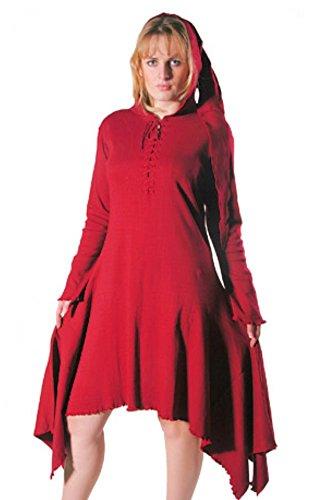 Bäres Gothic Vampire Kleid Ilva Damen Bordeaux Kurzes fqz0fr