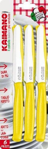 Kaimano Dynamic 6 Table Knife, Stainless Steel, Yellow, 28 x 10 x 2 cm Fiskars KDN041506G