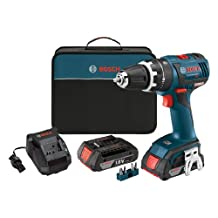 Bosch HDS182-02 18-volt Brushless 1/2-Inch Compact Tough Hammer Drill/Driver with 2.0Ah Batteries, Charger and Case