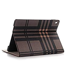 iPad Case for iPad Pro 9.7 inch,SIX-SEVEN Microfiber Lining Cover with Card Slots Lightweight Folding Stand Cover Full Body Protective Case for Apple iPad Pro 9.7,Brown