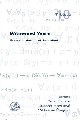 Witnessed Years: Essays in Honour of Petr Hajek (Tributes)