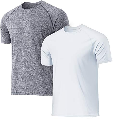 TSLA 1 or 2 Pack Men's Workout Running Shirts, Quick Dry Cool-Dri Short Sleeve Athletic Shirts, Active Sport Gym T-Shirts