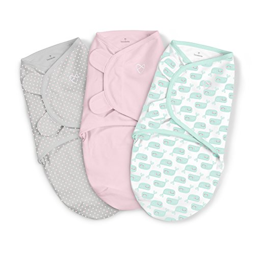 SwaddleMe 3 Piece Original Swaddle, Wonderous Whales, Small ()