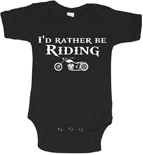 I'd rather be riding a motorcycle baby bodysuit future biker infant one piece