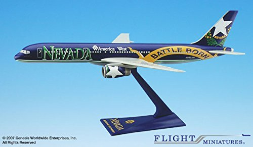 - Flight Miniatures America West Nevada State Livery Boeing 757-200 1:200 Scale Display Model