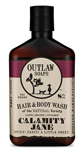 Calamity Jane Natural Hair and Body Wash: Smells like Whiskey, Clove, Orange, and a Little Cinnamon, for your Spicy and Sweet Shower