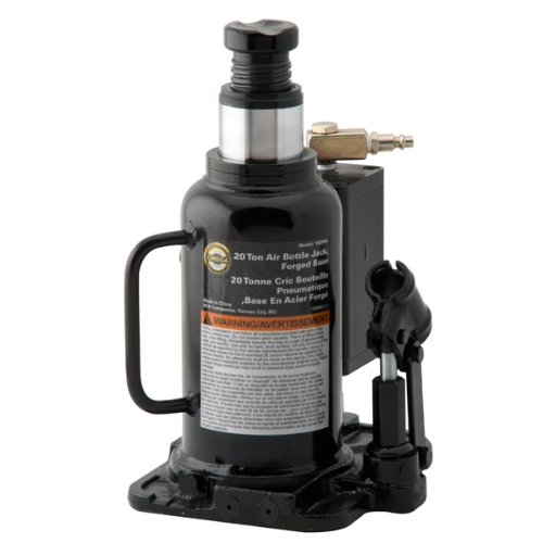 Omega 18204C Black/White Air Actuated Bottle Jack - 20 Ton Capacity