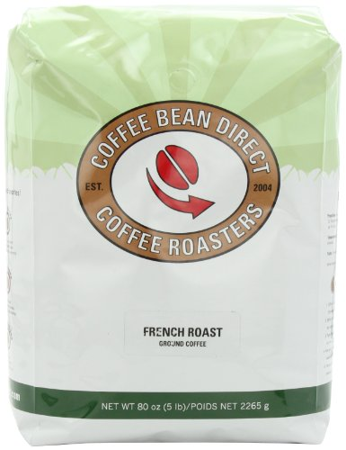 Coffee Bean Direct Ground Coffee, French Roast, 80 Ounce
