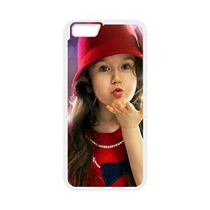 iPhone 6 4.7 Inch Cell Phone Case White Cute Girl Z8V4E