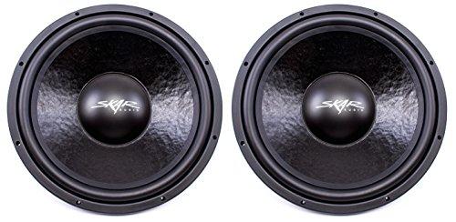 (2) Skar Audio IVX-15v2 D2 15″ 800W Max Power Dual 2 Subwoofer
