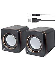 Logic Concept Technology 161435 System Głośników Stereo USB, Czarno/Pomarańczowy