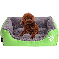 Dog Bed, Super Soft Pet Sofa Cats Bed, Non Slip Bottom Pet Lounger,Self Warming and Breathable Pet Bed Premium Bedding,Green,L