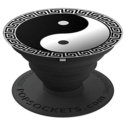 (Ying Yang peace - Chinese Yin Yang Symbol - PopSockets Grip and Stand for Phones and Tablets)