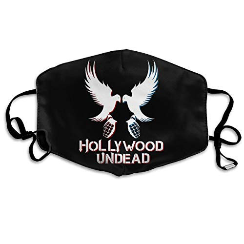 Washable Anti-dust Face Mask Hollywood Undead Hip Hop Band Mouth Mask Reusable White