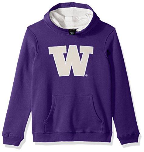 Ncaa Washington Huskies Youth Boys  Prime  Pullover Hoodie  Large 14 16   Regal Purple