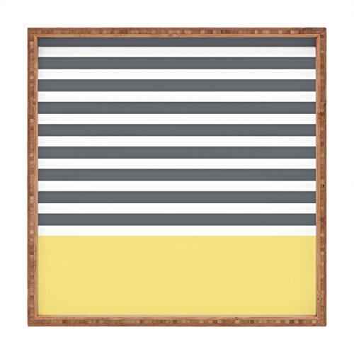 DENY Designs Hello Twiggs Elegant Stripes Indoor/Outdoor Square Tray, 12 x 12