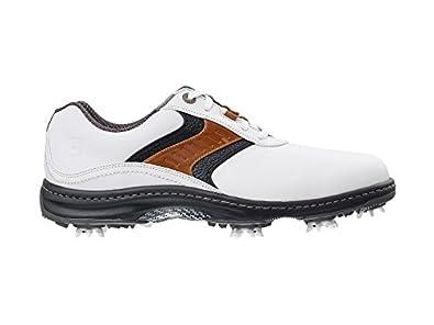 Footjoy Contour Series - Zapatos para Hombre, Color Blanco/Taupe/Negro, Talla 40.5