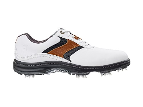 FootJoy 2016 Mens Contour Plain Toe Saddle Golf Shoes, Previous Season Styles (9.5 D(M) US, (Mens Discount)
