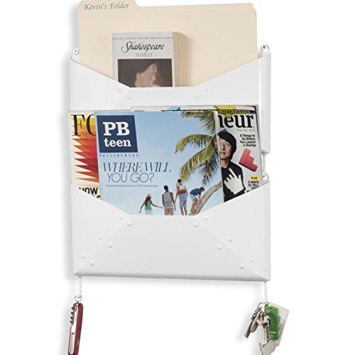 Buroh Wall Mount Foyer Mail Holder Key Hooks Newspaper Magaz