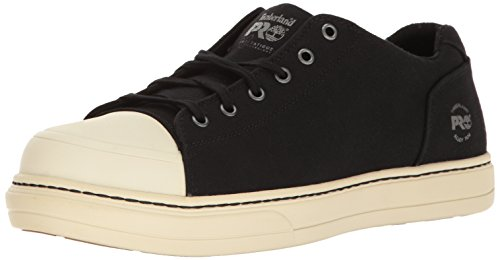Timberland PRO Men's Disruptor Oxford Alloy Safety Toe EH Industrial & Construction Shoe, Black/White Canvas, 11.5 M US