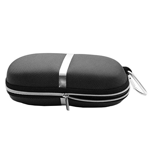 Household items Compression EVA Sunglasses Zipper Box, Silver-White Strip with Aluminum Hook Sunglasses case, Portable Glasses case, AOYS ()