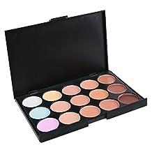 Vodisa 15 Color Cream Contour Kit-Ultra Concealer Palette Face Contouring and Highlighter Palette-Beauty Cosmetics Makeup Blemish Professional Base Foundation Make up Cream Makeup Blemish Pallet (1)