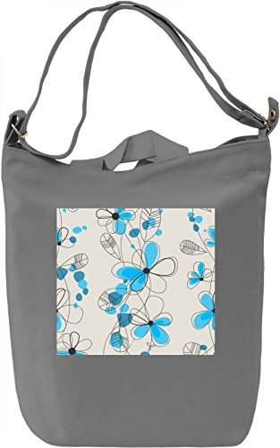 Painted Flowers Pattern Borsa Giornaliera Canvas Canvas Day Bag| 100% Premium Cotton Canvas| DTG Printing|