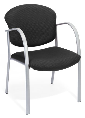 Guest Visitor Side Chair (OFM 414-20-EBONY Contract Guest Chair, Ebony)