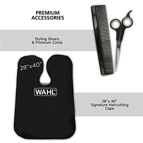 41IVKsag9gL Wahl Clipper Elite Pro High Performance Haircut Kit for men with Hair Clippers, Secure fit guide combs with stainless steel clips By The Brand used by Professionals. #79602