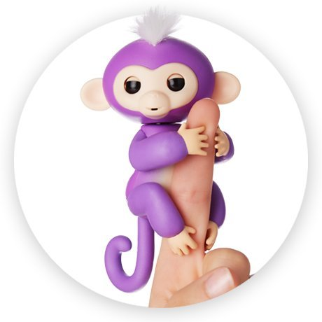 WowWee Fingerlings Baby Monkey - Mia - Purple
