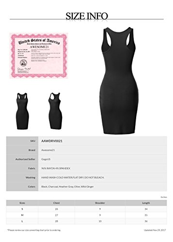 Midi Sleeveless Black Dress Length Women's Tank Aawdrv0021 Awesome21 Rib xYyESw85Yq