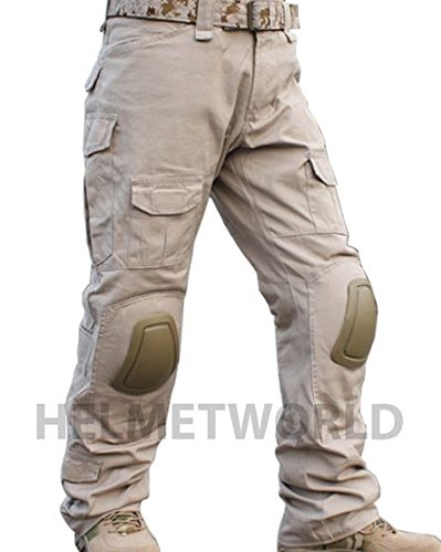AIRSOFT EMERSON GEN 2 PANTS TROUSERS TAN SAND BROWN KNEE PADS 36-38 CRYE WORK