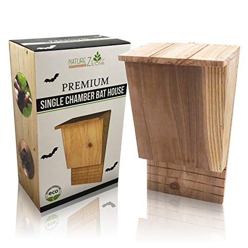 NatureZ Edge Bat House for Mosquito Control | Wood Bat Box for Outdoors | Wooden Bat Box for Outdoors to Control Mosquitoes Without Pesticides | Weather Resistant