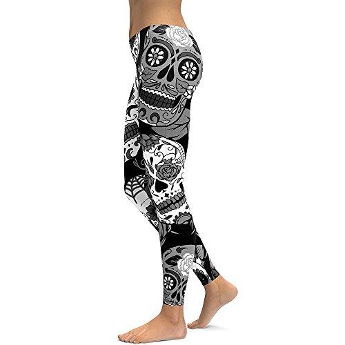 Sport Noir Yoga Fitness Haute Femme Taille Pantalon De Jogging Imprimé Wudube legging xFpXqwZB