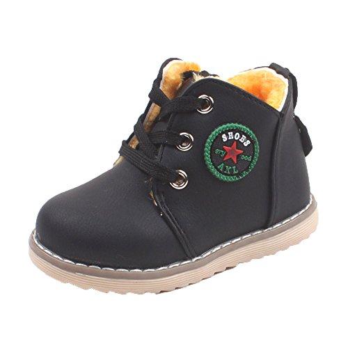 Xshuai Kinder Schuhe Jungen Mädchen Anti-Rutsch Sport Schuhe Baby Mode Kleinkind Kid Sneakers Schwarz