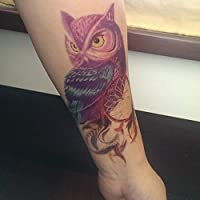 Falso Tatuaje temporal Color de Transferencia de Agua Búho Pájaro ...