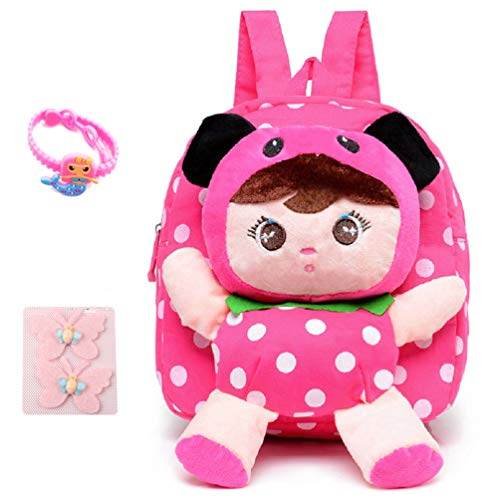 Little-Sweet Cute Kids Toddler Backpack Plush Toy Backpack Snack Travel Bag Pre-School Bags for Girls 1-5Years (pink2)