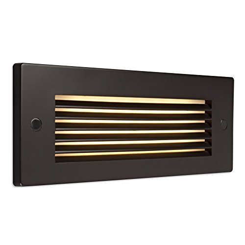 Bruck Lighting 138022bz/3/hl - Step 2 LED Step Light - Horizontal Louver - Bronze Finish by Bruck Lighting