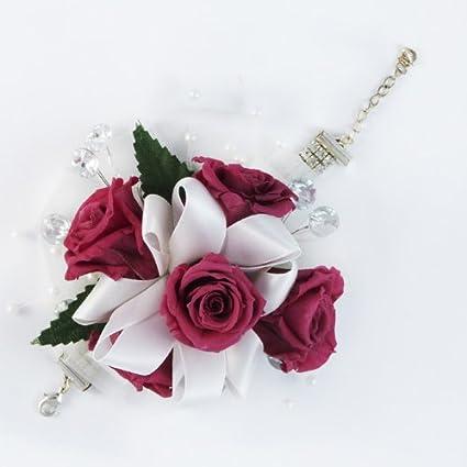 Amazon magnificent dark pink rose corsage preserved to last magnificent dark pink rose corsage preserved to last mightylinksfo
